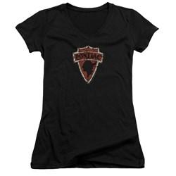 Pontiac - Juniors Early Pontiac Arrowhead V-Neck T-Shirt
