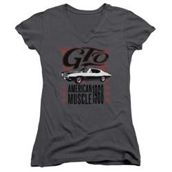 Pontiac - Juniors Gto Flames V-Neck T-Shirt