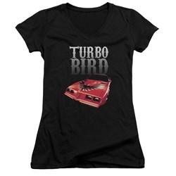 Pontiac - Juniors Turbo Bird V-Neck T-Shirt