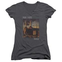 Pink Floyd - Juniors Faded Animals V-Neck T-Shirt