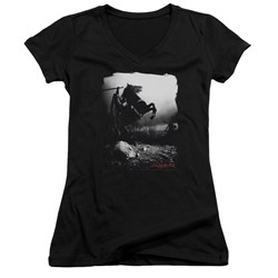 Sleepy Hollow - Juniors Foggy Night V-Neck T-Shirt
