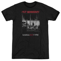 Pet Semetary - Mens Cat Poster Ringer T-Shirt