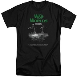 War Of The Worlds - Mens Attack Poster Tall T-Shirt