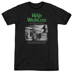 War Of The Worlds - Mens Attack People Poster Ringer T-Shirt