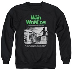 War Of The Worlds - Mens Attack People Poster Sweater