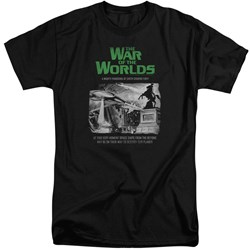 War Of The Worlds - Mens Attack People Poster Tall T-Shirt