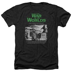 War Of The Worlds - Mens Attack People Poster Heather T-Shirt