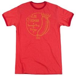 Ferris Bueller - Mens Abe Froman Ringer T-Shirt