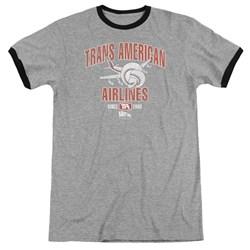 Airplane - Mens Trans American Ringer T-Shirt
