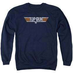 Top Gun - Mens Distressed Logo Sweater