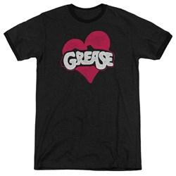 Grease - Mens Heart Ringer T-Shirt