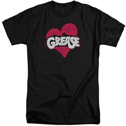 Grease - Mens Heart Tall T-Shirt
