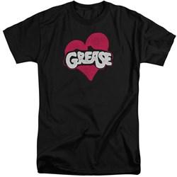 Grease - Mens Heart Tall T-Shirt