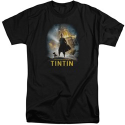Tintin - Mens Poster Tall T-Shirt