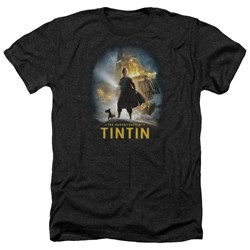 Tintin - Mens Poster Heather T-Shirt