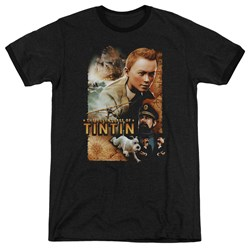 Tintin - Mens Adventure Poster Ringer T-Shirt