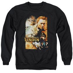 Tintin - Mens Adventure Poster Sweater