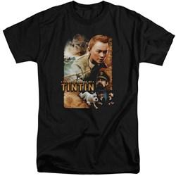 Tintin - Mens Adventure Poster Tall T-Shirt