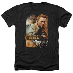 Tintin - Mens Adventure Poster Heather T-Shirt
