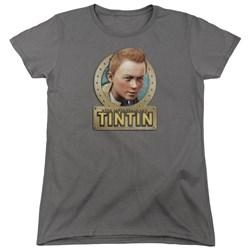 Tintin - Womens Metal T-Shirt