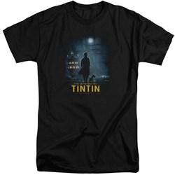 Tintin - Mens Title Poster Tall T-Shirt