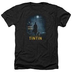 Tintin - Mens Title Poster Heather T-Shirt