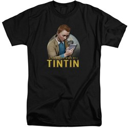 Tintin - Mens Looking For Answers Tall T-Shirt