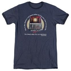 Beverly Hills Cop - Mens Nicest Police Car Ringer T-Shirt