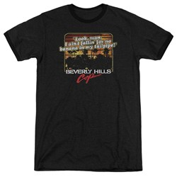 Beverly Hills Cop - Mens Banana In My Tailpipe Ringer T-Shirt