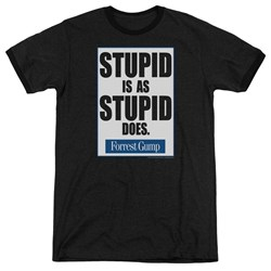 Forrest Gump - Mens Stupid Is Ringer T-Shirt