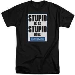 Forrest Gump - Mens Stupid Is Tall T-Shirt