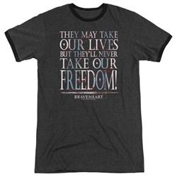 Braveheart - Mens Freedom Ringer T-Shirt