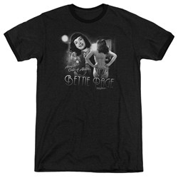 Bettie Page - Mens Center Of Attention Ringer T-Shirt