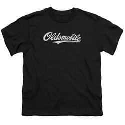 Oldsmobile - Big Boys Oldsmobile Cursive Logo T-Shirt