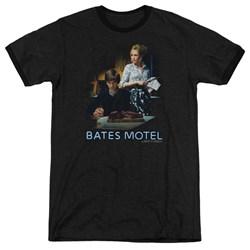 Bates Motel - Mens Die Alone Ringer T-Shirt