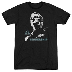 Eureka - Mens Leadership Poster Ringer T-Shirt