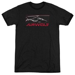 Airwolf - Mens Grid Ringer T-Shirt