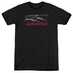 Airwolf - Mens Grid Ringer T-Shirt