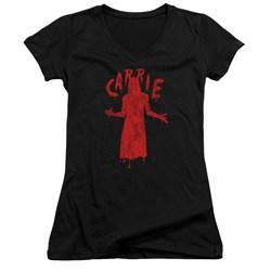 Carrie - Juniors Silhouette V-Neck T-Shirt