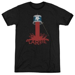 Carrie - Mens Bucket Of Blood Ringer T-Shirt