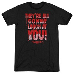 Carrie - Mens Laugh At You Ringer T-Shirt