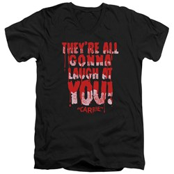 Carrie - Mens Laugh At You V-Neck T-Shirt