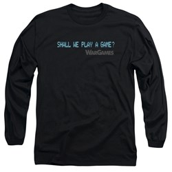 Wargames - Mens Shall We Long Sleeve T-Shirt