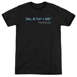 Wargames - Mens Shall We Ringer T-Shirt