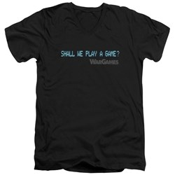 Wargames - Mens Shall We V-Neck T-Shirt