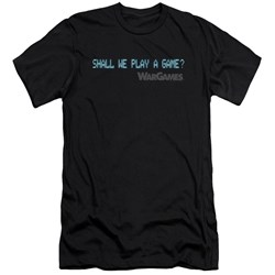 Wargames - Mens Shall We Slim Fit T-Shirt
