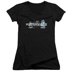 Poltergeist II - Juniors Logo V-Neck T-Shirt