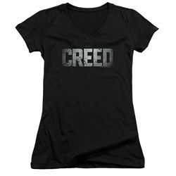 Creed - Juniors Logo V-Neck T-Shirt