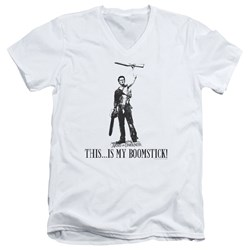Army Of Darkness - Mens Boomstick! V-Neck T-Shirt