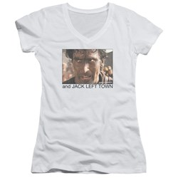 Army Of Darkness - Juniors Jack Left Town V-Neck T-Shirt